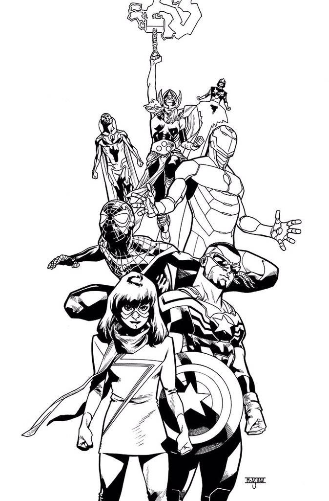 Avengers by Mahmud Asrar