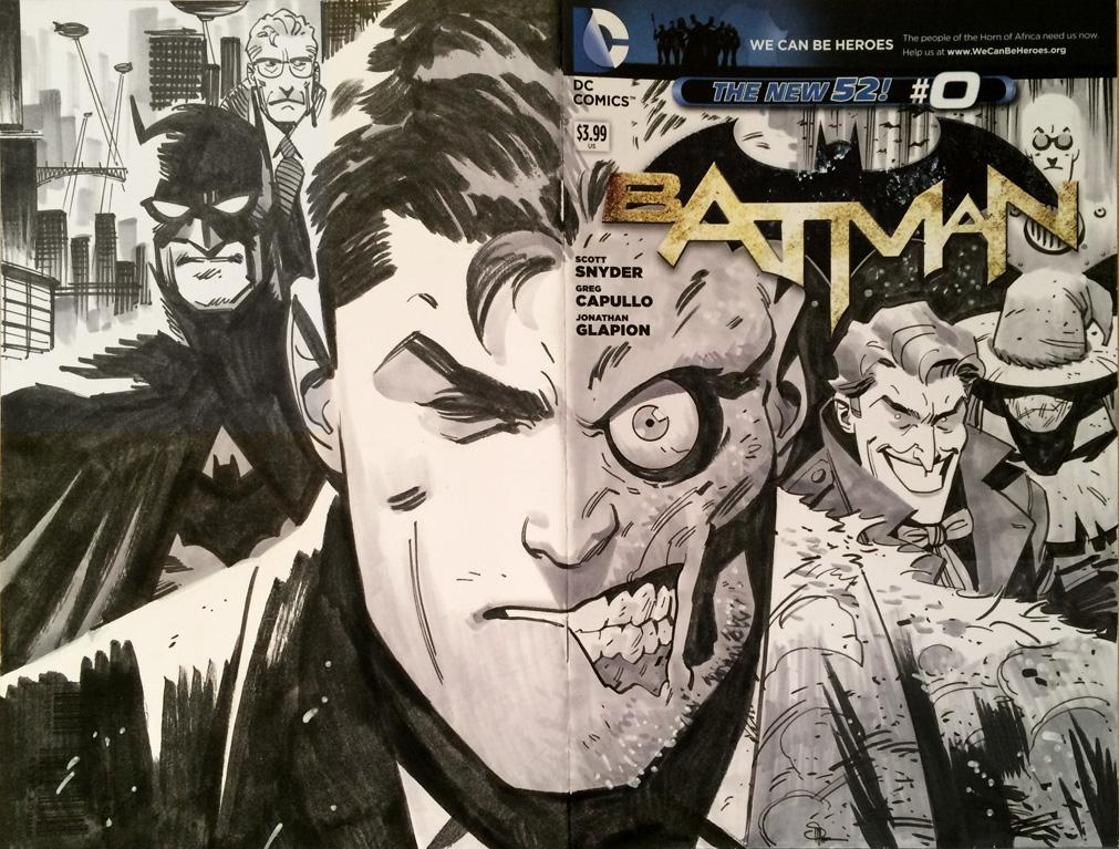 Batman Sketch Cover by Doc Shaner