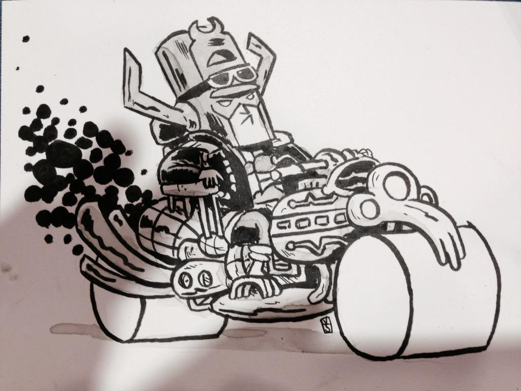 Biker Galactus by Kyle Starks