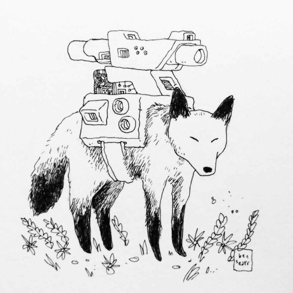 Fox with Heavy Cannon by Ben Sears