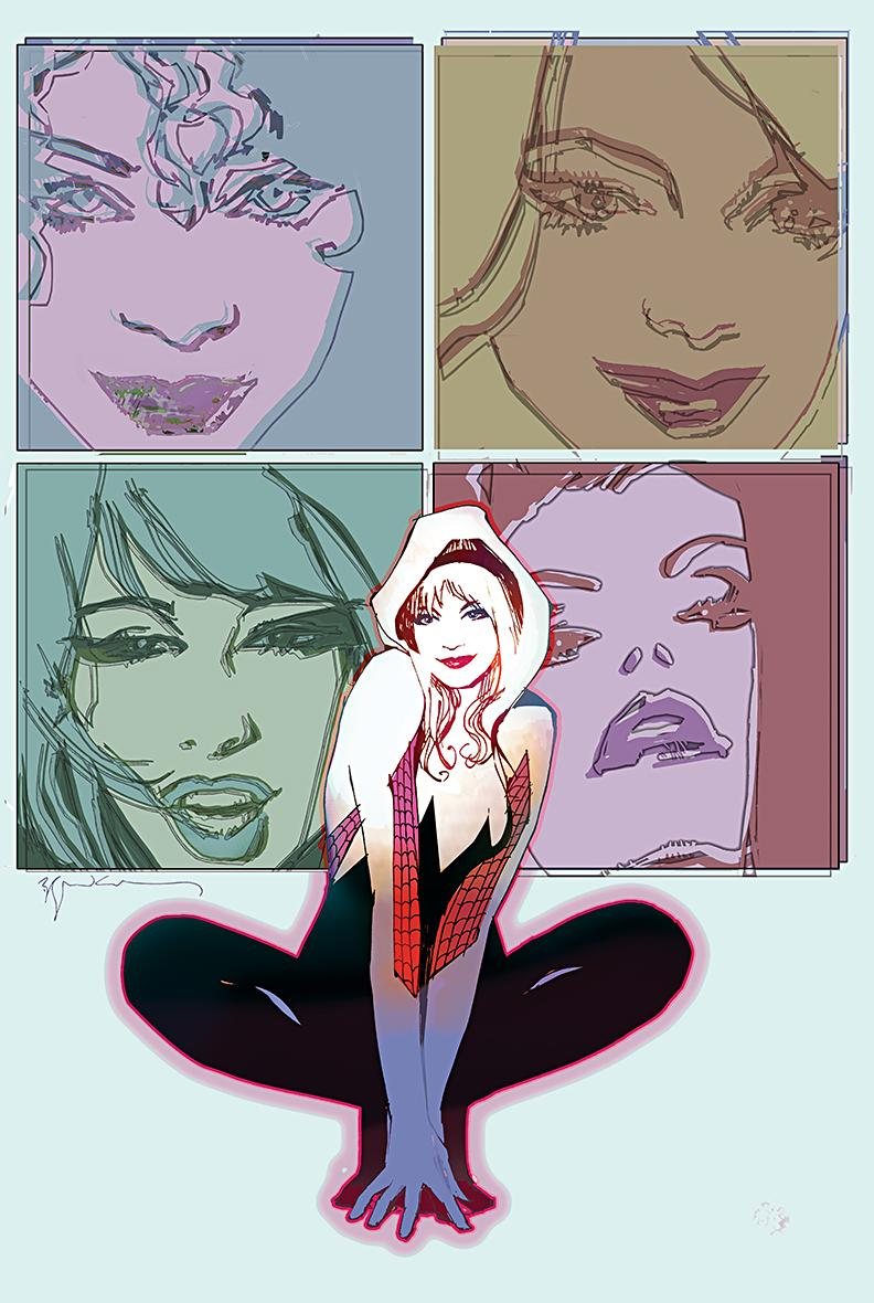 Gwen and the MJs by Bill Sienkiewicz