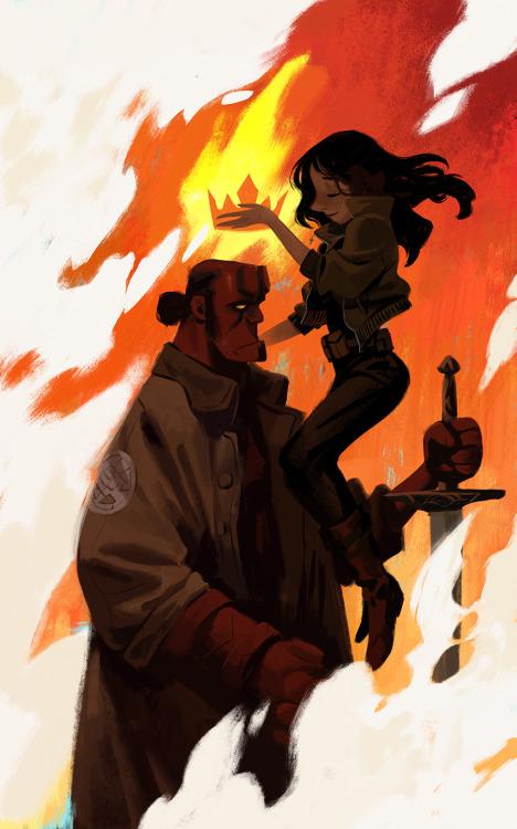 Hellboy by Mingjue Helen Chen