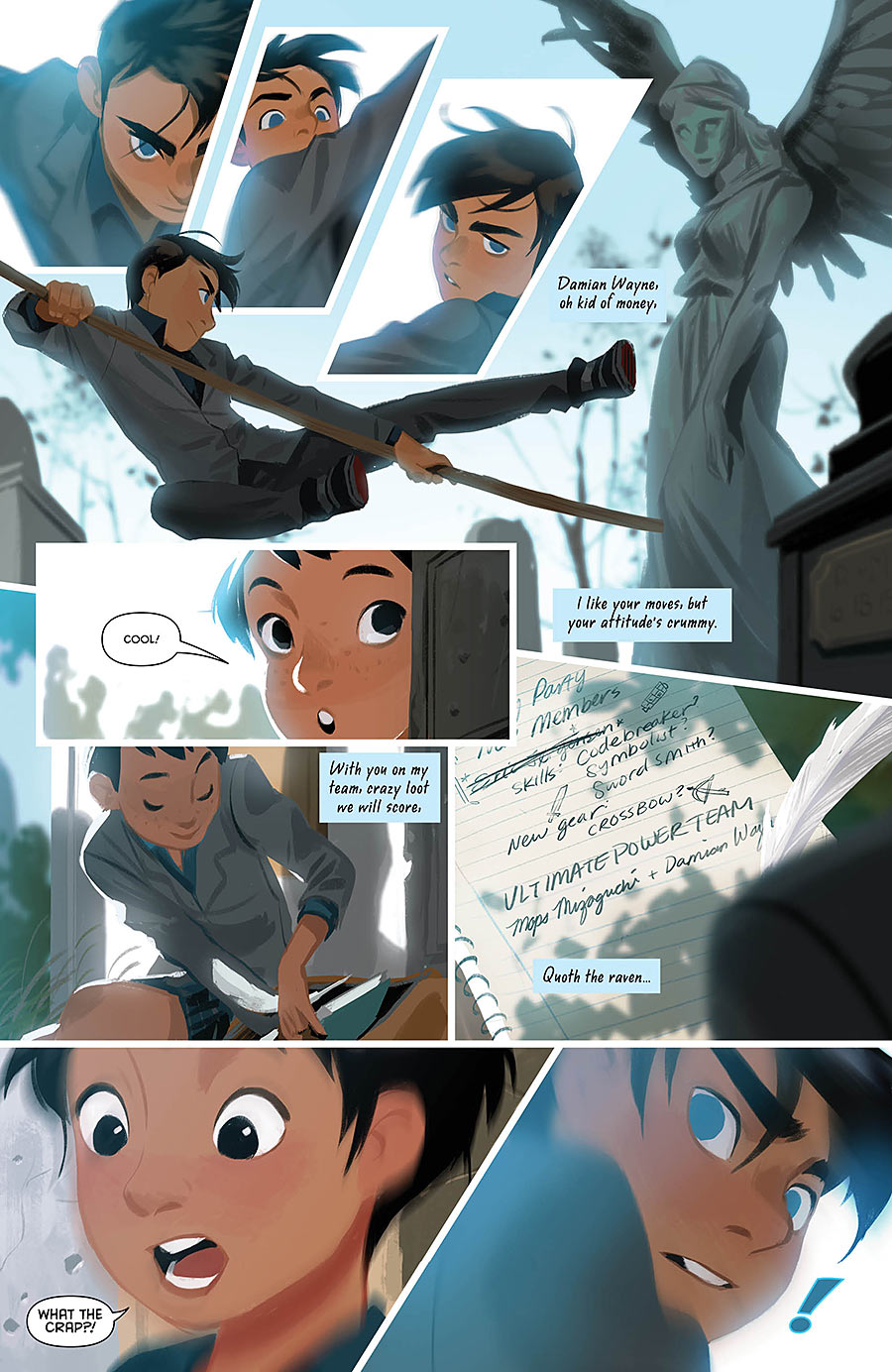 Page from Gotham Academy #7 by Mingjue Helen Chen