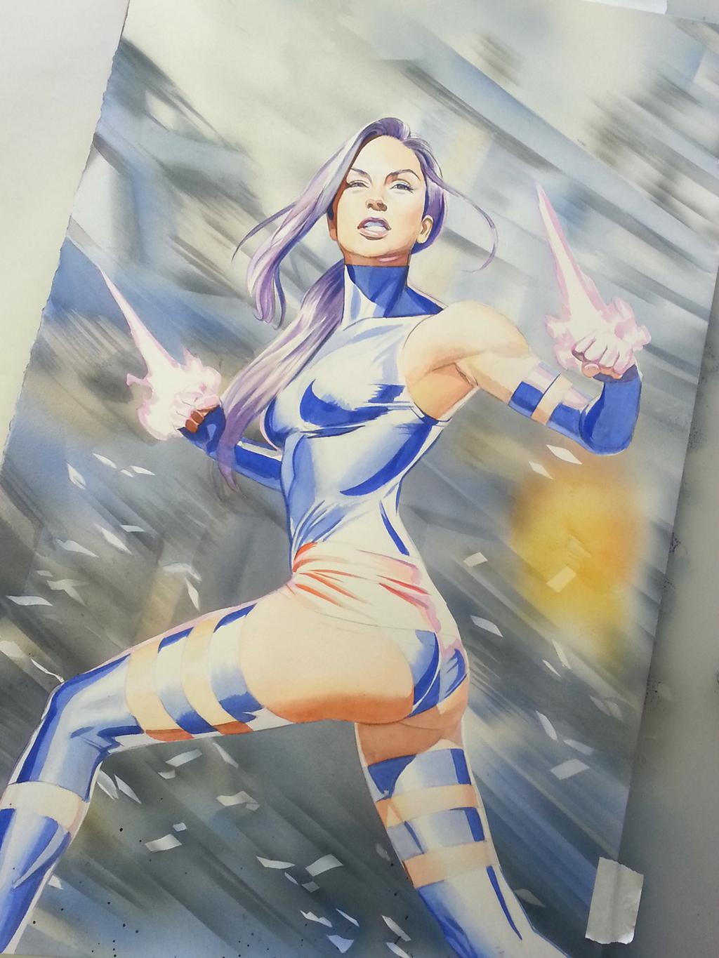 Psylocke by Mike Mayhew