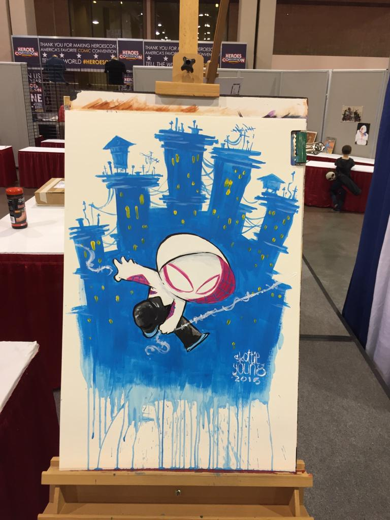 Baby Spider Gwen by Skottie Young