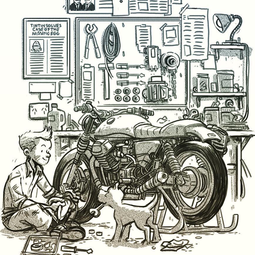 Tintin by Douglas Holgate