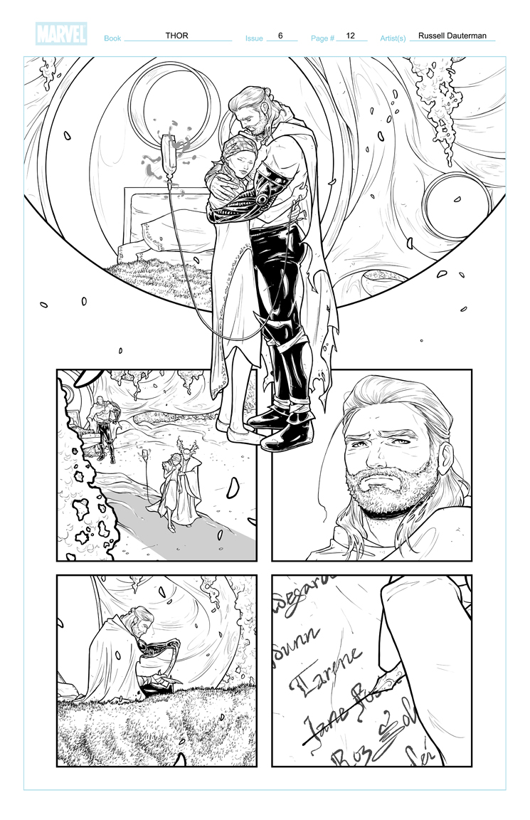 Thor #6 Page 12 Linework