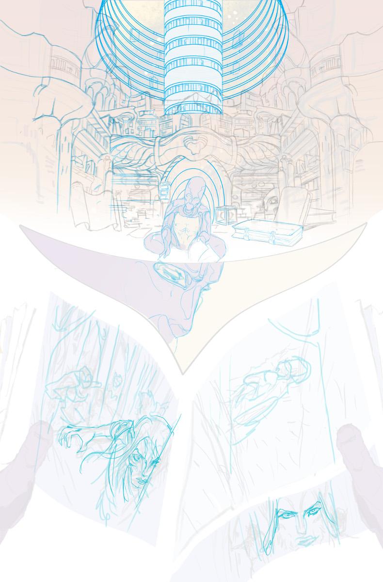 ODY-C #6 Page 1 Blue Line