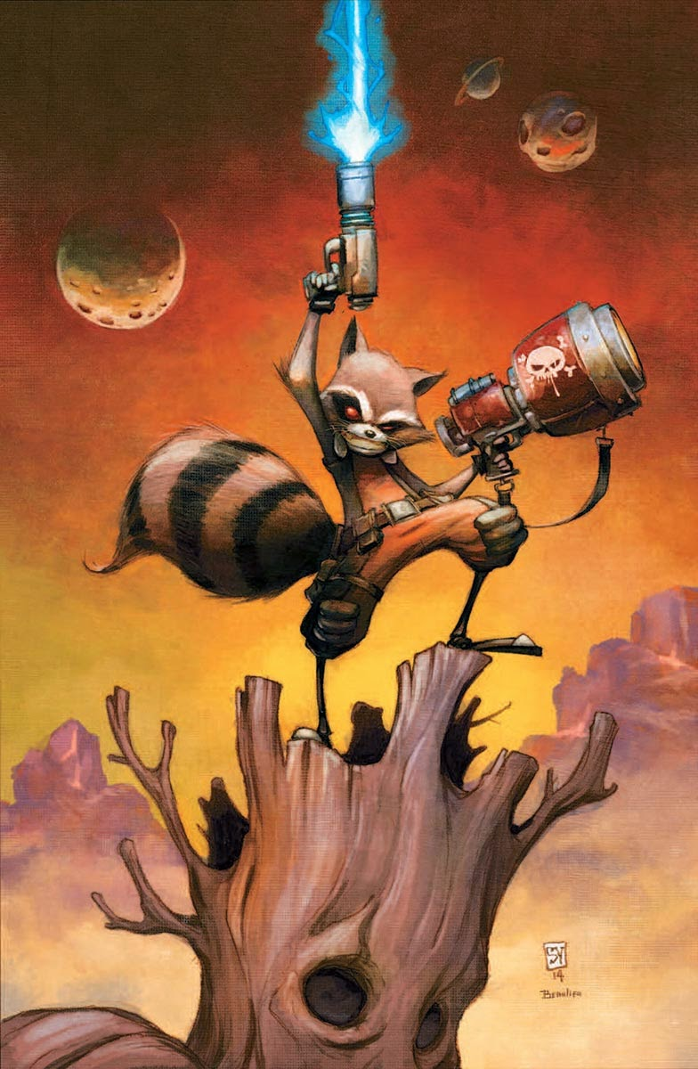 Rocket Raccoon #1 by Skottie Young