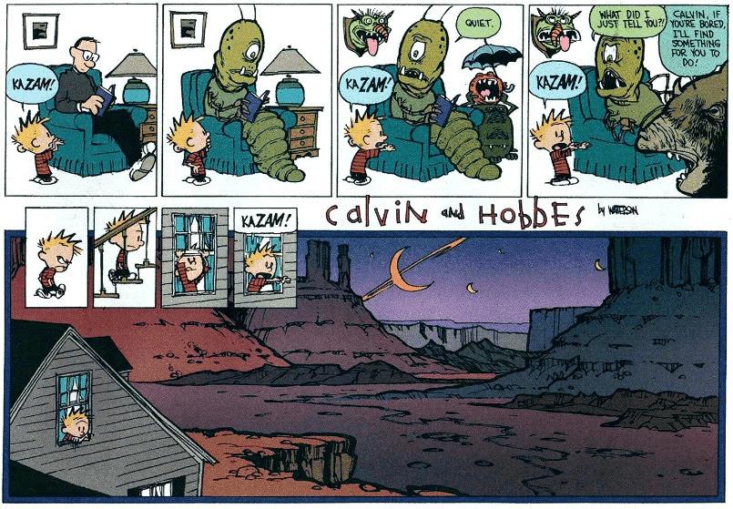 Calvin and Hobbes kazam