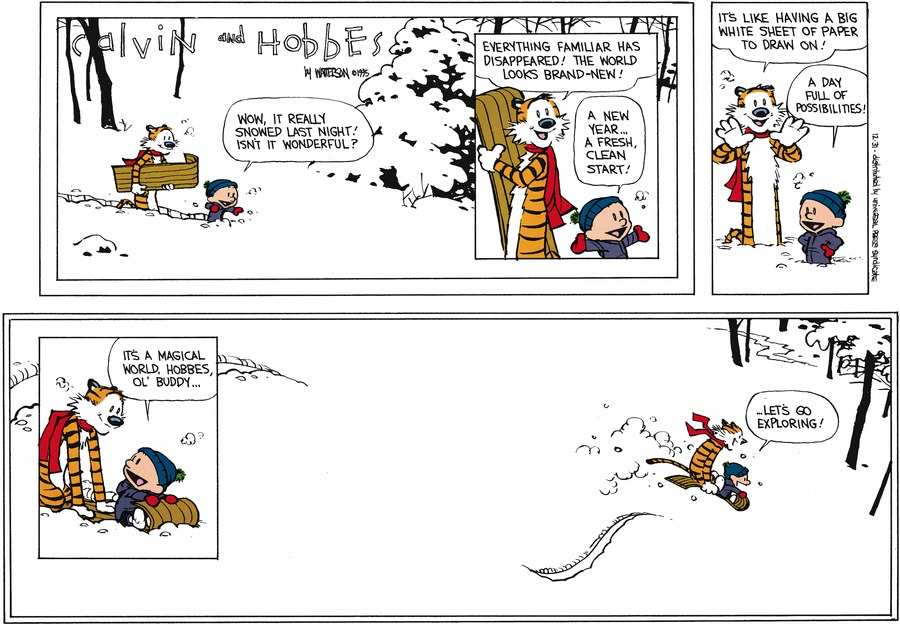 The last Calvin and Hobbes comic