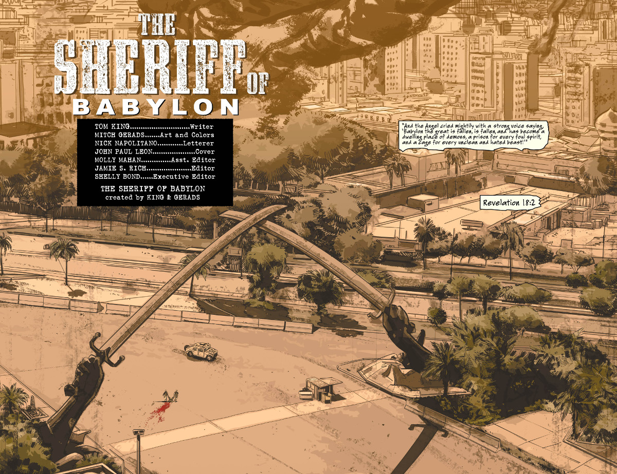 Sheriff of Babylon #1 2 page spread