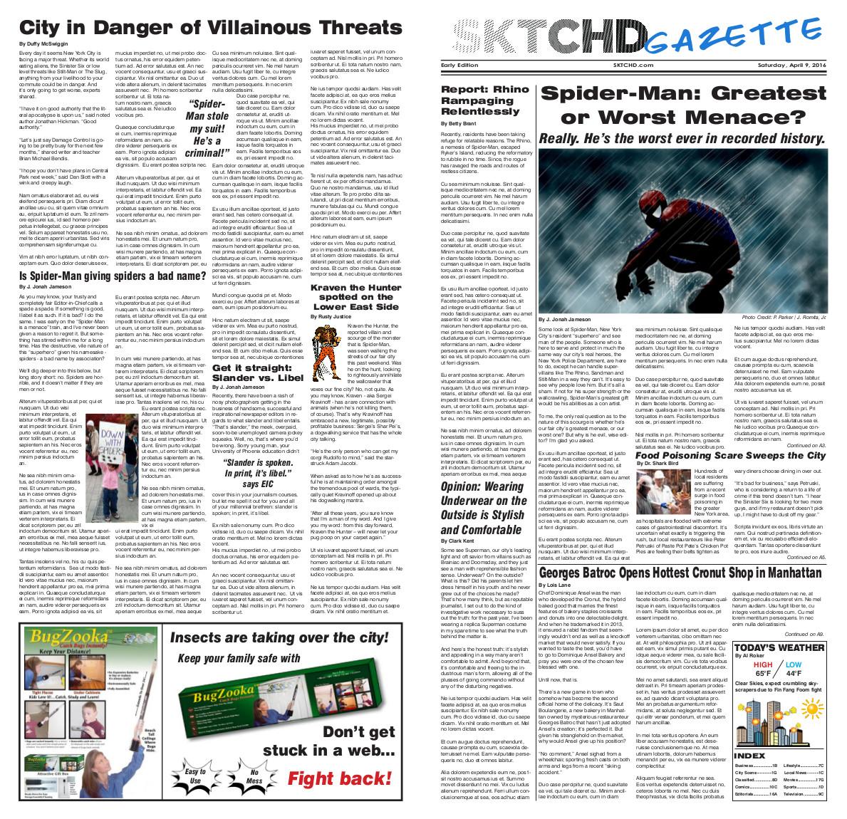 SKTCHD Gazette