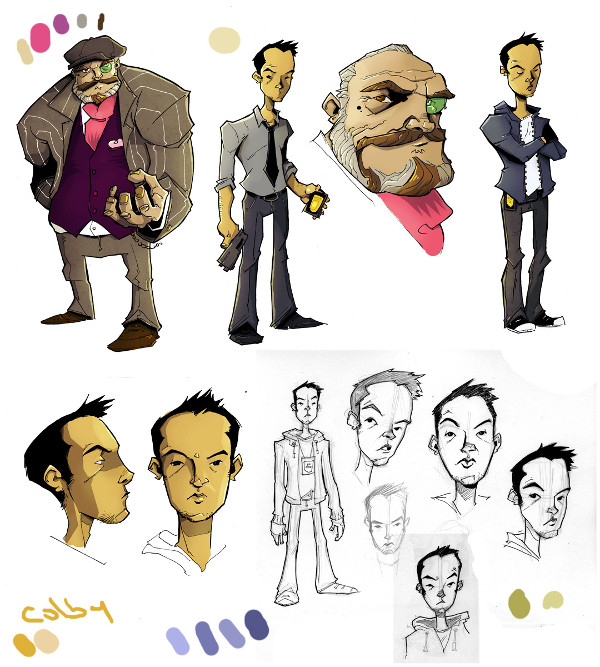 Chew Character Sketches
