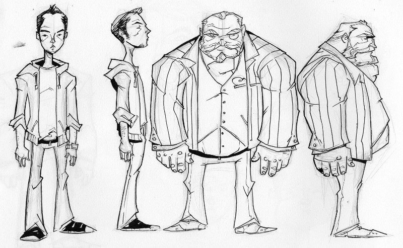Early Chew character sketches